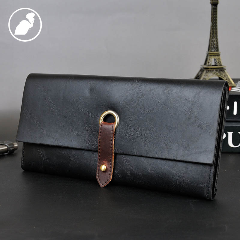 ETONWEAG Famous Brands Womens Wallets And Purses Leather Wallet For Credit Cards Black Luxury Coin Purse Vintage Clutch Bags