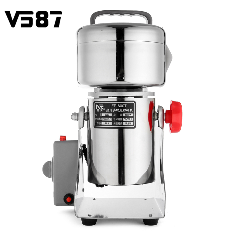 Grains Spices Hebals Cereals Coffee Dry Food Grinder Mill Grinding Machine Gristmill Home Medicine Flour Powder