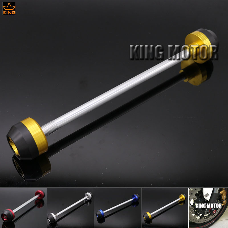 For SUZUKI GSX-S750 2015-2016 Motorcycle Accessories CNC Aluminum Front Axle Fork Crash Sliders Wheel Protector Gold