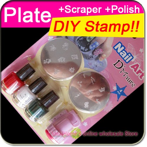 Aliexpress Buy Nail Art Stamping Kit Nail Stamping Plate