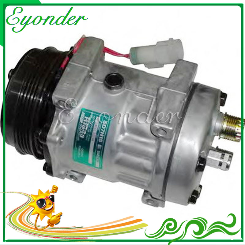 A/C AC Air Conditioning Compressor Cooling Pump SD7H15 7H15 for Sanden for LAND ROVER DEFENDER LD Pickup 2.5 Td5 JPB101200 8076