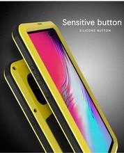 Samsung Galaxy S10 5G durumda aşk MEI şok kir geçirmez su geçirmez Metal zırh kapak telefon Samsung kılıfı Galaxy s10 5G