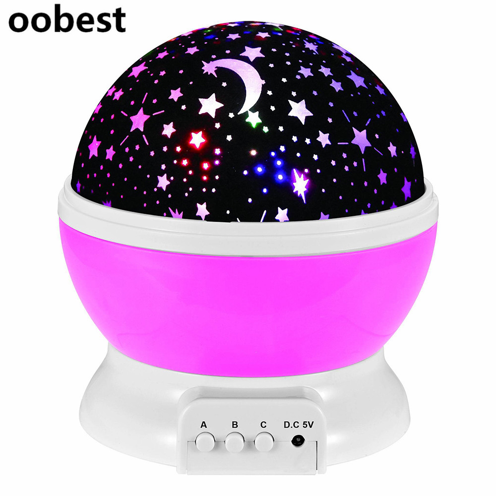 Room Novelty Night Light Projector Lamp Rotary Flashing Starry Star Moon Sky Star Projector Kids Children Baby Abajur Infantil hot sale dreamlike amazing flashing colorful star night light novelty led sky star master night lamp projector lamp