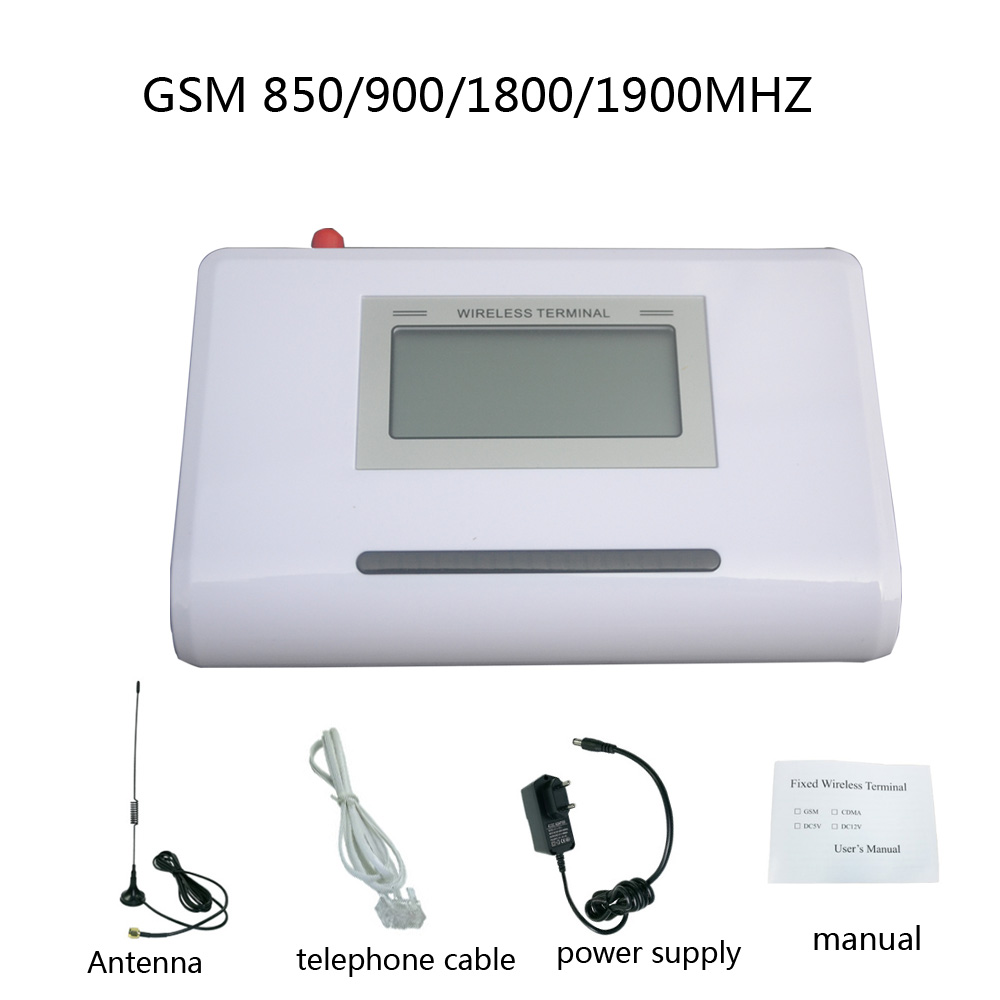 GSM 850/900/1800/1900MHZ Fixed Wireless Terminal With LCD Display, Support Alarm System, Clear Voice,stable Signal