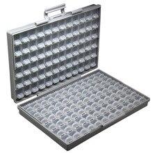 Aidetek smd коробка для хранения пластиковый чехол резисторы для поверхностного монтажа конденсаторы небольшой отсек крошечный Органайзер Ящик для инструментов STORAG