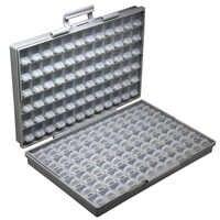 Caja de almacenamiento Aidetek smd caja de plástico resistencias de montaje superficial condensadores bien pequeño compartimento organizador Caja de Herramientas STORAG