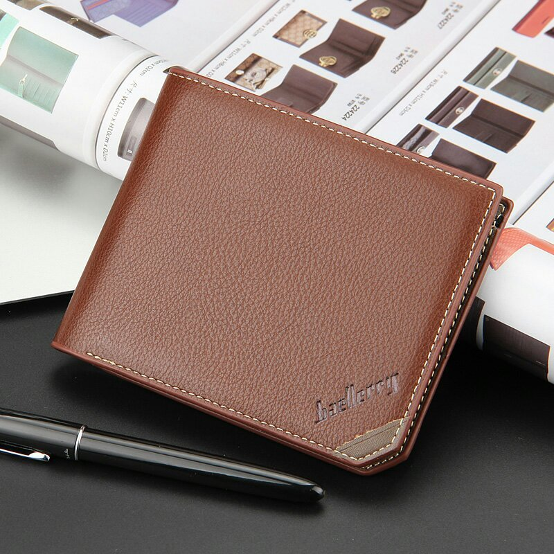 Business Leisure New Men Wallets Cross Vertical Fashion Originality Quality Young Students Card Holder Wallet Free Shipping