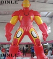 Customized 5mH Giant Inflatable Super Hero Figures Inflatable Iron Man For Event Decoration