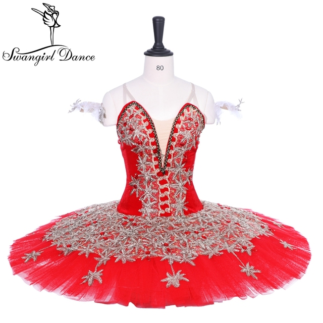 566804ce50cc 2018 News!women red gold performance stage ballet tutu girls pancake  professional ballet tutu stage costume for children BT9188C