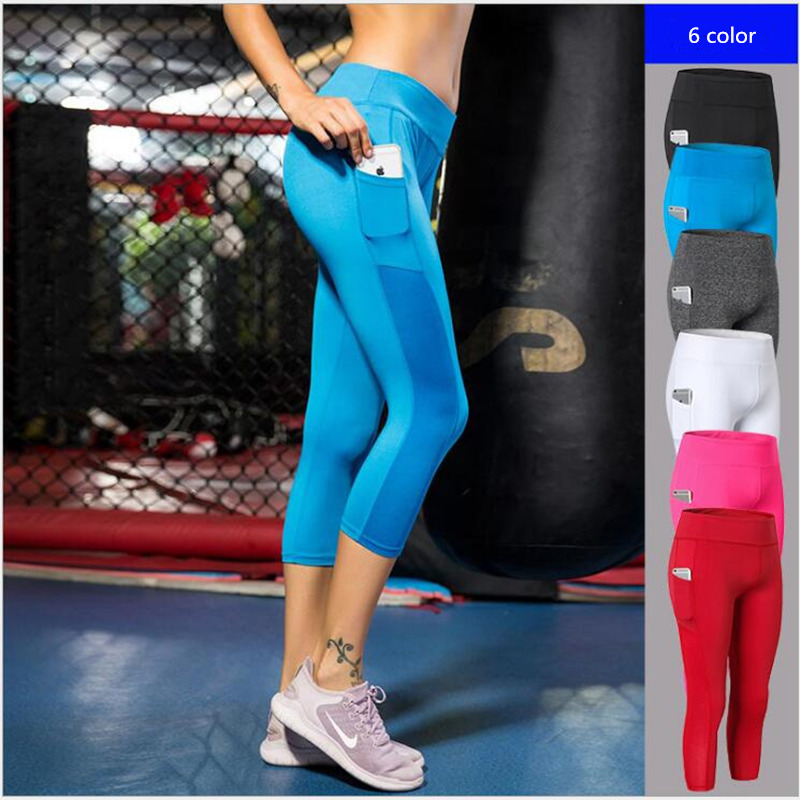 New High Waist Slim Leggings For Women Dancing Wear Plus Size Mesh Patchwork Footless With Small Pocket Pants Gotico Woman