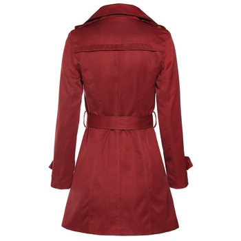 Kenancy 4XL Plus Size Overcoat Medium Long Trench Coat Women Sashes Belted Double Breasted Windbreaker Turn-down Collar Outwear 1