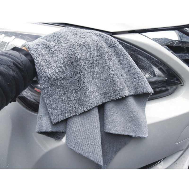 380gsm Edgeless микрофибра ткань без верхних краев детализированное полотенце для полировки отделки мытья