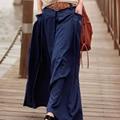 2016  women's casual wide flared skirt ladies long ankle-length denim skirt