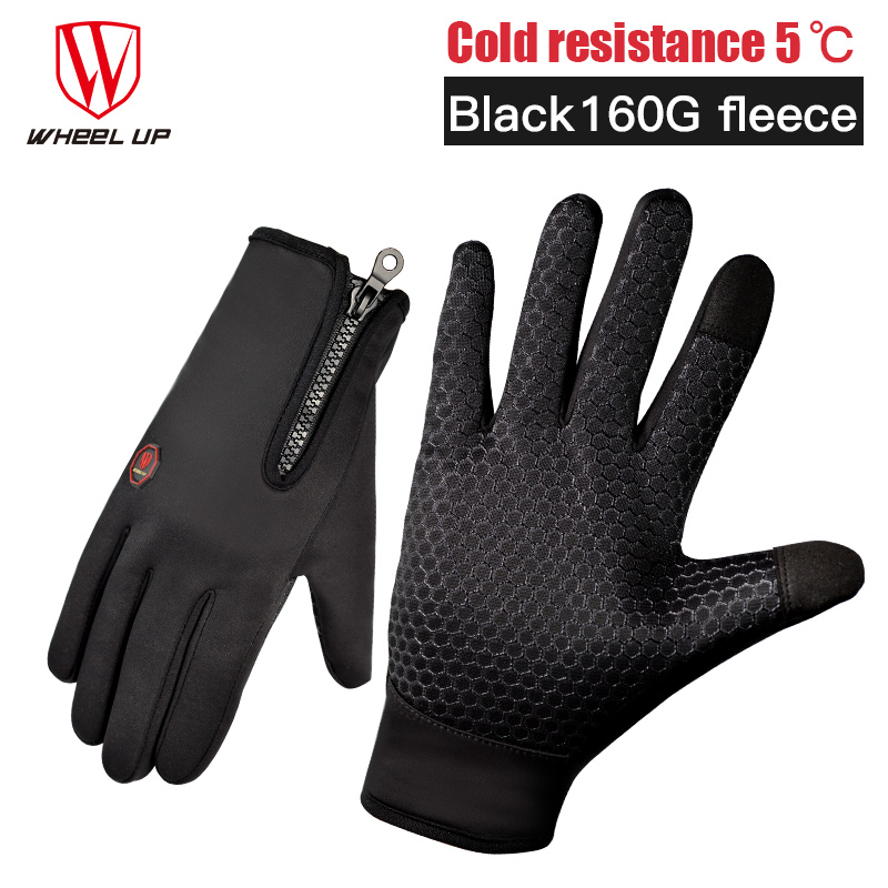 2017 Cycling font b gloves b font mtb full finger winter autumn waterproof touch screen road