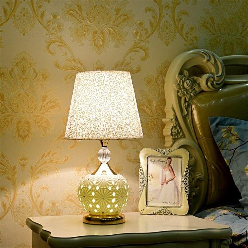 >Desk Lamp Bedside Lamp Simple Modern Creative Household European <font><b>Style</b></font> Warm Romantic Romantic Adjustable Led Light Home <font><b>Deco</b></font>