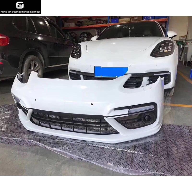 971 Turbo PP parachoques delantero labio delantero para 971 Porsche panamera turbo cuerpo del coche kit 2017