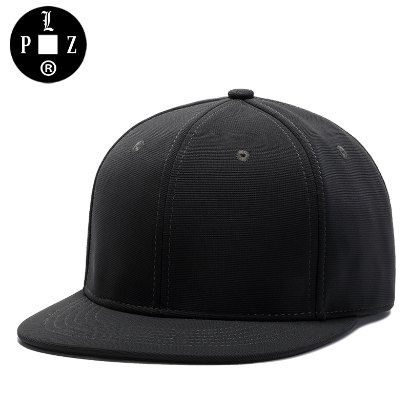PLZ Hip Hop Snapback Cap Men Baseball Cap Black Classic Design Flat Hat Heavy Metal Fashion Skateborad Street Dancer Snapback nyuk trendy metal v for vendetta mask baseball cap leather belt buckle adjustable flat birm cool street boy men snapback hat set