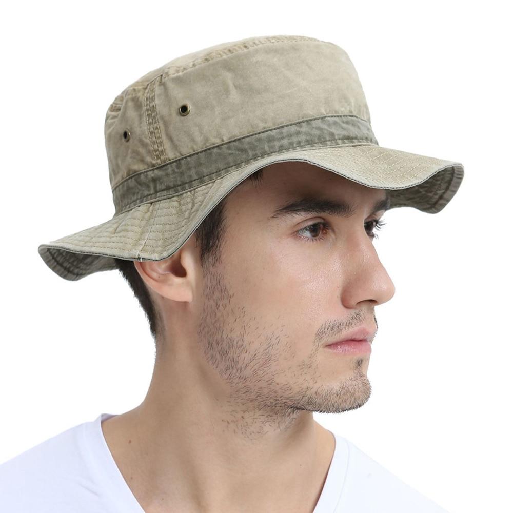 VOBOOM Men s Bob Summer Panama Bucket Hats Outdoor Fishing Wide Brim Hat UV  Protection Cap Men Sombrero Gorro Sun for Male 139-in Bucket Hats from  Apparel ... bd0b5e54b03e