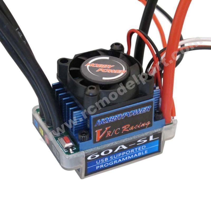 Hobbypower Racing 60A Brushless BL ESC Speed Controller BEC 6 V/1.5A pour RC 1/10 1/12 Voiture Camion