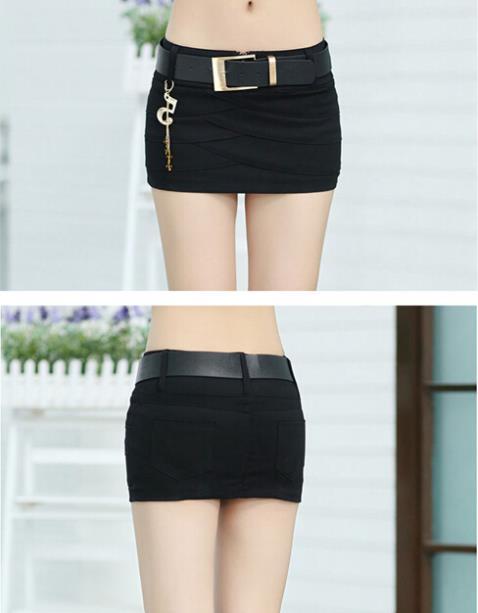 Ladies Black Denim Skirt - Dress Ala