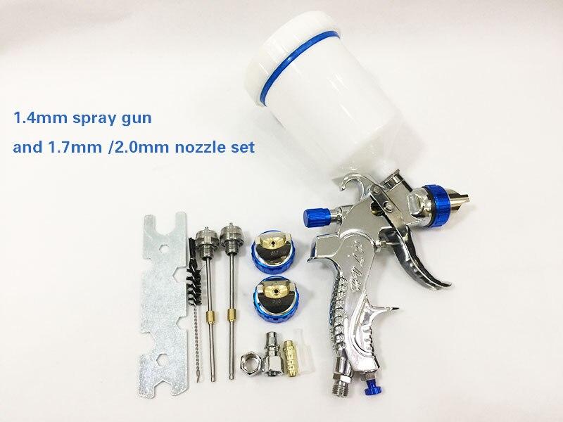 601 HVLP SPRAY GUN 1 4mm 1 7mm 2 0mm steel nozzle Paint spray gun professional