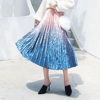 Плиссированная юбка с градиентом