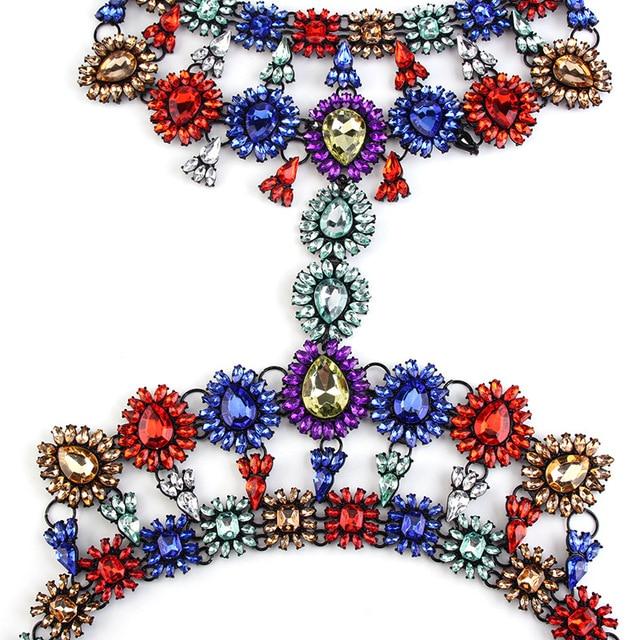 MYDANER 2017 Body Jewelry Luxury Crystal Long Chains Necklaces for Women Maxi Waist Bikini Beach Collar Femme Accessories Bijoux