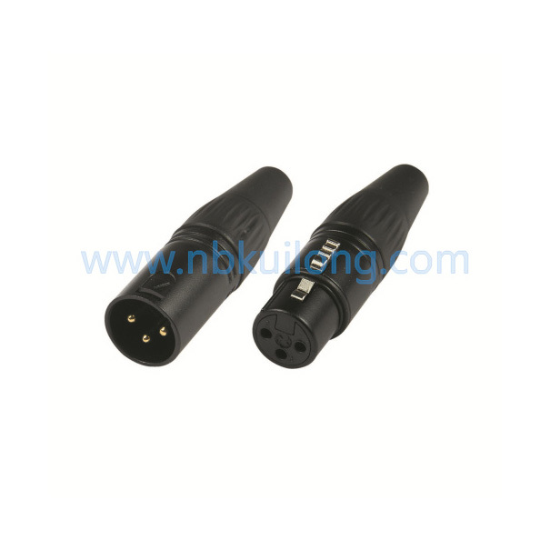 wholesale 200pcs/lot XLR 3Pin Cannon Connector 100pcs XLR Male & 100pcs xlr  female MIC Audio connector