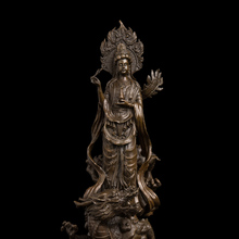 Ancient  Antiques Chinese Tibet Buddhist Bronze Goddess of Mercy kwan-Yin Buddha Statue  Avalokitesvara Sculpture 3d model relief stl models file format goddess of mercy faivre