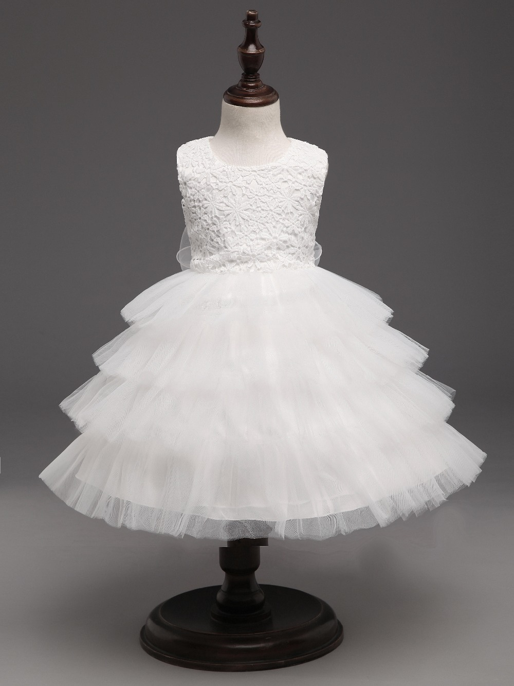 White Wedding Baby Girl Princess Dress Baptism Toddler Kids Dresses For Girls Clothes children clothing Party tutu dress girl pink kids baby girls party dresses lace princess dress for baptism wedding children clothing girl tulle tutu dress 2 6 years