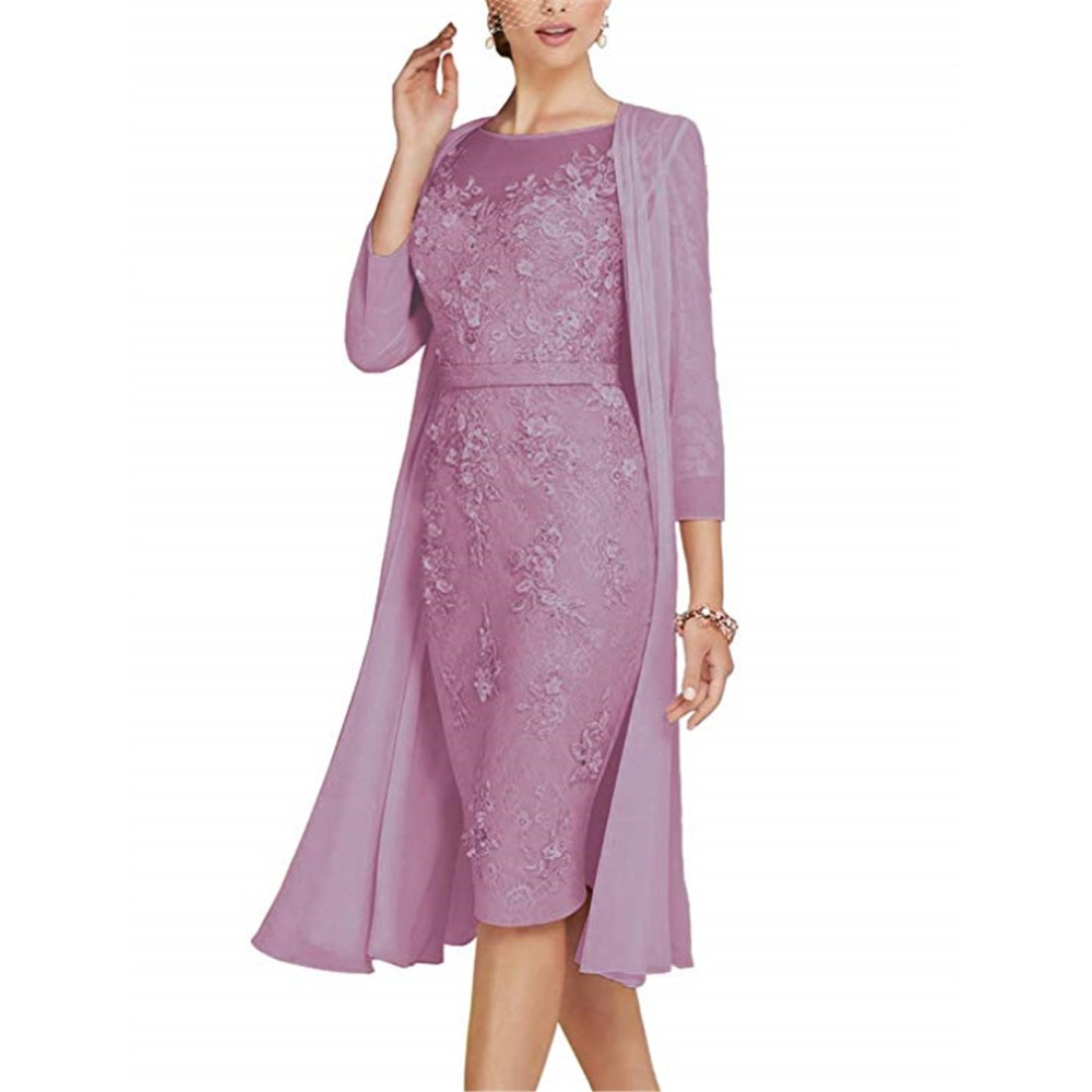 2019 Chiffon Pleated Lace Appliques A Line With 12 Sleeves Mother Of The Bride Dress Long Vestido De Festa Longo