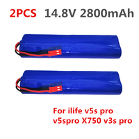 2PCS 14.8V 2800mAh Rechargeable for ILIFE Battery robotic cleaner accessories parts for ilife v5s pro v5spro X750 v3s pro
