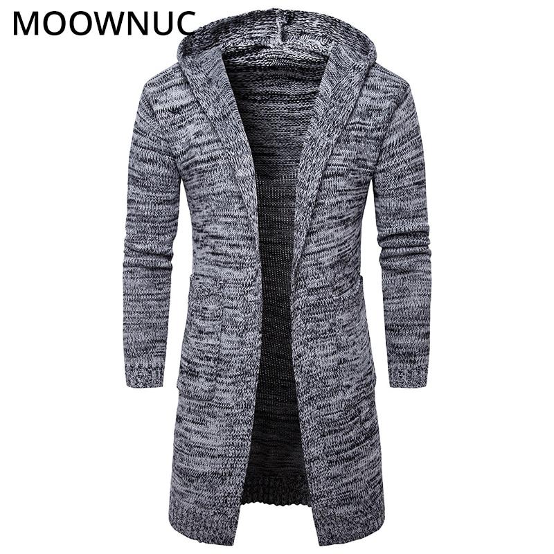 Sweater Cardigan Male Hat Smart Casual Fashion Autumn Slim Bottoming Shirt Homme Cardigan Men Modish Solid Sweater MOOWNUC MWC