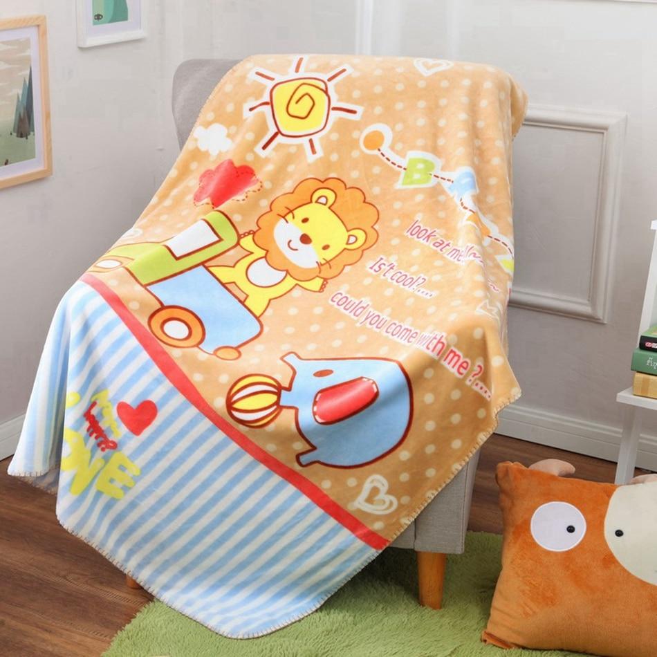 100 140 Cm Fleece Cartoon Lion Blanket Design For Sofa Bed