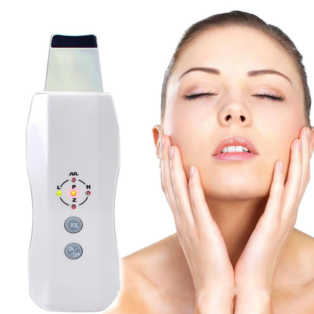 2017 Best Offer Portable Skin Scrubber Ultrasonic Massager Ultrasound Facial Peeling Cleaner Fit for women