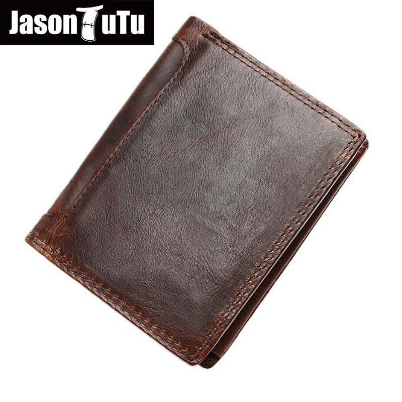 Vintage Crazy horse Leather Men Wallets, dollar price short style male purse, 100% top quality genuine leather wallet HN231 new hot dc comics the flash wallets short leather bifold dollar price for young men and women