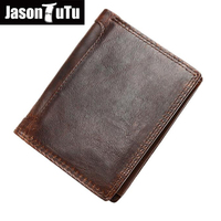 Vintage Crazy Horse Leather Men Wallets Dollar Price Short Style Male Purse 100 Top Quality Genuine