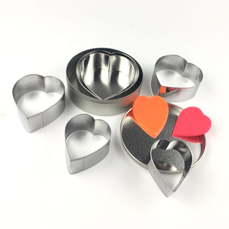 6pcs/lot Stainless Steel Cookie Cutters Fondant Baking Cookie Biscuit Cutters Sandwich Cutters Cookie Cutter OK 0994 image