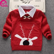 Knitted Sweater for boys 2017 Autumn Winter Boys Sweater Children Turtleneck Christmas Sweaters Boy Pullover Kids clothing