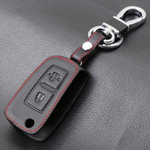 Genuine Leather Key Cover for Nissan Qashqai J11 X-trail Murano Maxima Tiida Altima Quest Juke Geniss Case Shell Keychain Keybag(China)