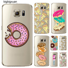 Colorful Food Hamburger Donuts Macaron Covers For Samsung Galaxy S5 S6 S6Edge S6Edgeplus S7 S7edge Transparent Silicone New Case