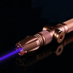 Image 2 - 4 واط oxlasers كول OX BX980 445nm 450nm 4000 متر فوكوسابل حرق مؤشر الليزر الأزرق الليزر السيف مع 26650 بطاريات شحن مجاني