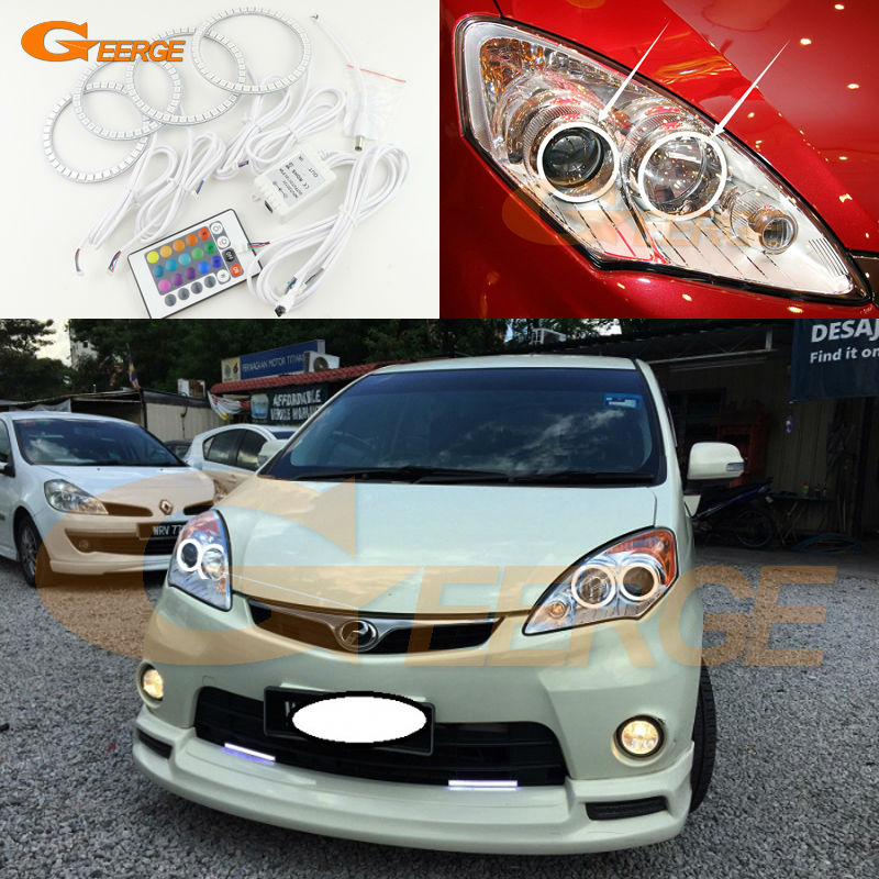 For Perodua Alza 2009 2010 2011 2012 2013 2014 2015 Excellent Angel Eyes Multi-Color Ultra bright RGB LED Angel Eyes kit for mercedes benz b class w245 b160 b180 b170 b200 2006 2011 excellent multi color ultra bright rgb led angel eyes kit