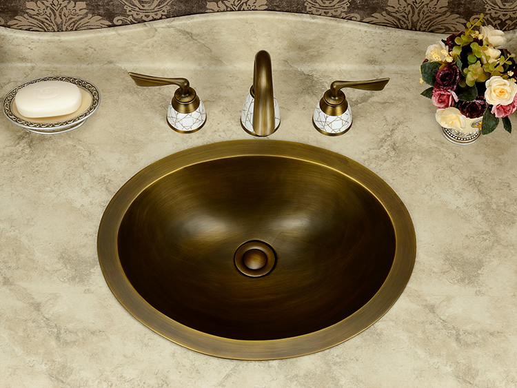 Free Shipping Oval Design Fashion Wash Basin, Handmade Copper Sink,Copper  Vessel Sink,Brass Under Counter Basin,