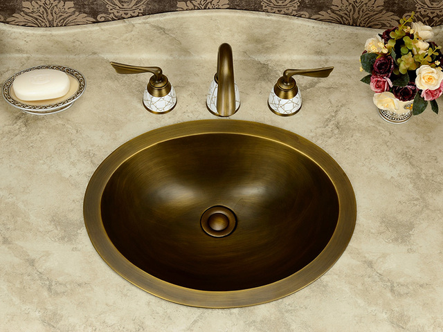 Free Shipping Oval Design Fashion Wash Basin, Handmade Copper Sink,Copper  Vessel Sink,