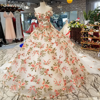 LS67741 1 color flowers evening dress sexy off shoulder v neck ball gown formal dress 2018 china online wholesale quick shipping