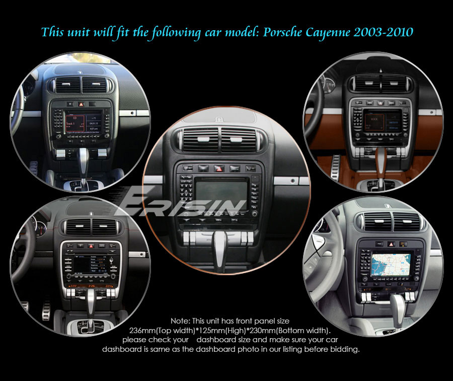 """Flash Deal 7"""" 4GB RAM 32GB ROM Android 9.0 Pie OS Car DVD Multimedia GPS Radio for Porsche Cayenne 2003-2010 with Split Screen Support 4"""