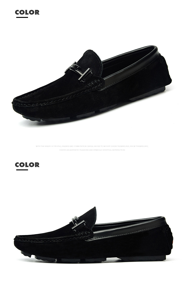 Men's Top Brand Fashion Casual Soft Loafers Suede Boat Shoes Male Footwear Adult Drivings Summer Moccasins Hommes Plus Size 11 69