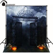 Allenjoy Halloween backdrop photo background horrible pumpkins moon night photography studio backgrounds