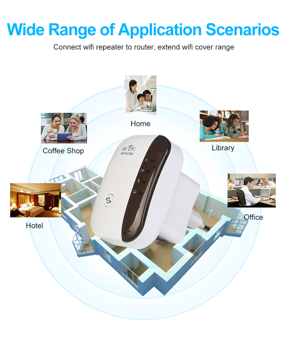 Image 2 - Wireless Wifi Repeater Wifi Range Extender Wi Fi Signal Amplifier 300Mbps WiFi Booster 802.11n/b/g Wi Fi Ultraboost Access Point-in Modem-Router Combos from Computer & Office